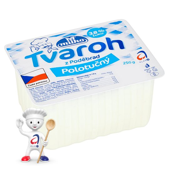 Milko Semi-Fat Curd from Poděbrady 250g