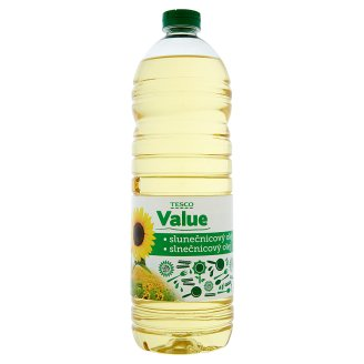 Tesco Value Sunflower Oil 1L
