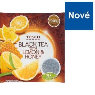 Tesco Černý čaj s jablky a příchutí citrónu a medu 20 x 2g