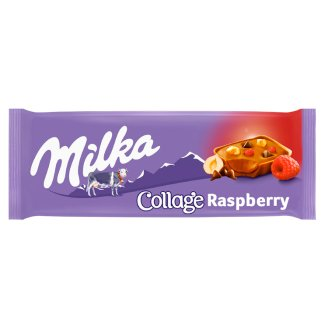 Milka Collage with Cocoa Filling, Milk Chocolate and Raspberries 93g