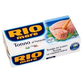 Rio Mare Tuňák ve vlastní šťávě 2 x 80g
