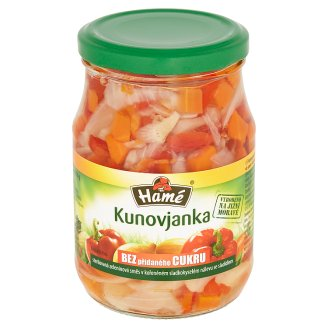 Hamé Kunovjanka Pickled Vegetable Mix in a Spiced Sweet-Sour Brine with Sweetener 340g