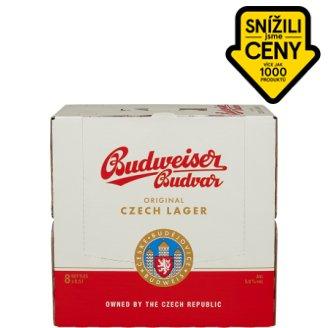 Budweiser Budvar Světlý ležák pivo 8 x 0,50l