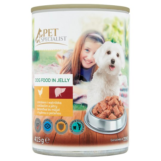 Tesco Pet Specialist Dog Food in Jelly with Poultry and Liver 415g