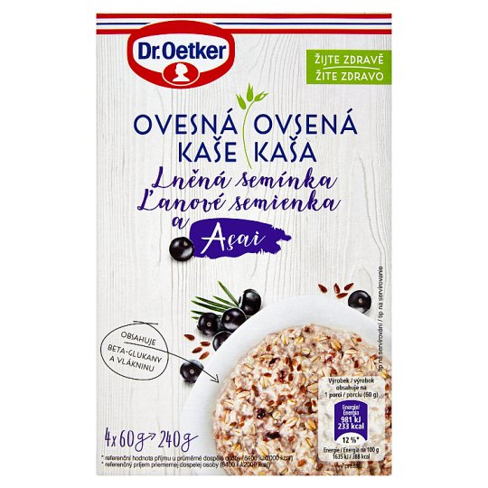 Dr. Oetker Oatmeal Porridge Acaii Linseed 240g