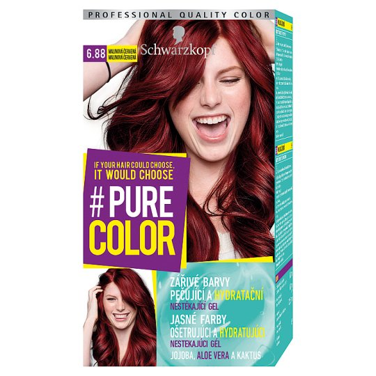 Schwarzkopf Pure Color Hair Color Raspberry Red 688 Tesco Groceries