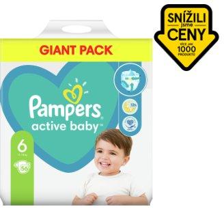 Pampers Active Baby Velikost 6, 56 Plenek, 13–18kg