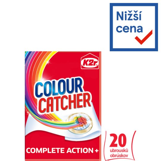 K2r Colour Catcher Detergent Wipes 20 pcs