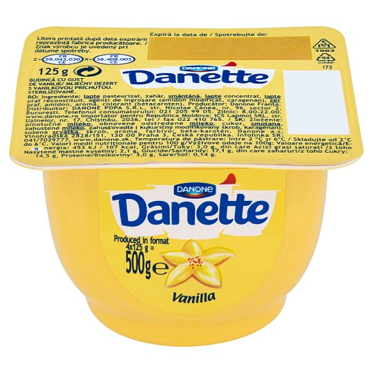 Danone Danette Mléčný dezert s vanilkovou příchutí 125g