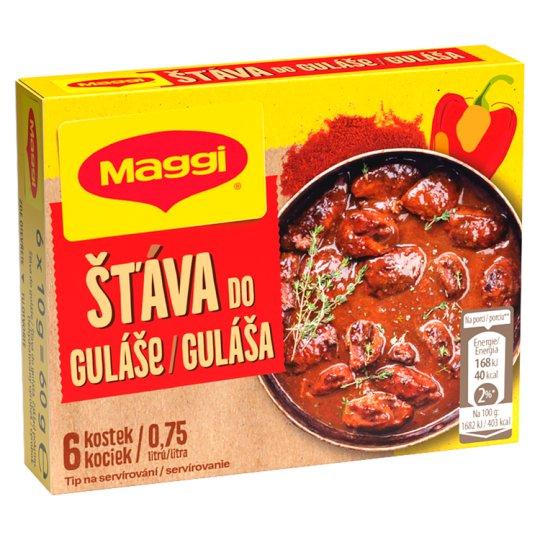 MAGGI Gulášová šťáva v kostce 0,75l 6 x 10g