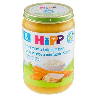 HiPP Bio rýže s mrkví a krůtím masem 220g