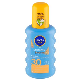 Nivea Sun Protect & Bronze Sprej na opalování podporující zhnědnutí OF 30 200ml