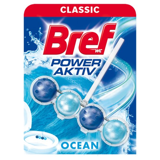 Bref Power Aktiv Ocean Breeze tuhý WC blok 50g