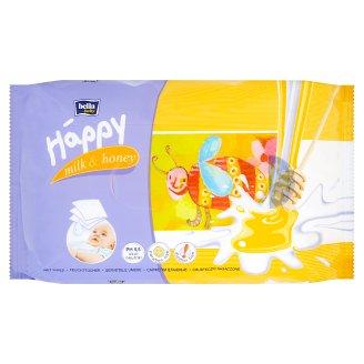 Happy Vlhčené ubrousky Mléko & Med á 64 ks