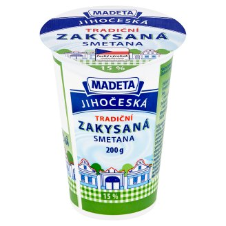 Madeta South Bohemian Traditional Soured Cream 15 % 200g