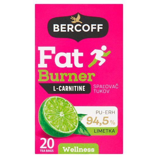 Bercoff Spalovač tuků L-Carnitine limetka čaj 20 x 1,5g