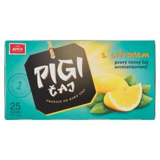 Jemča Pigi Black Tea Lemon Bags 25 x 1.5g