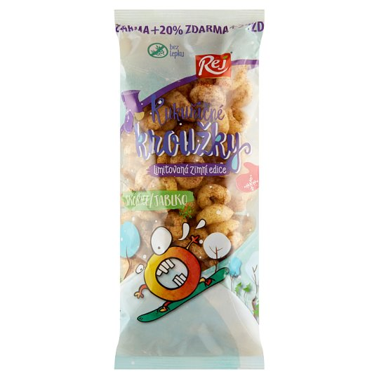 Rej Corn Rings with Cinnamon Apple Flavor 72g