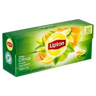 Lipton Zelený aromatizovaný čaj Citrus 25 sáčků