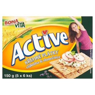 Bona Vita Active Křehké plátky vláknina & slunečnice 150g