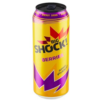 Big Shock! Blueberry & raspberry energetický nápoj 500ml