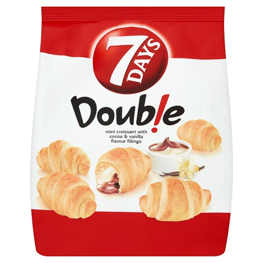 7 Days Doub!e Mini Croissant with Cocoa & Vanilla Flavour Fillings 200g