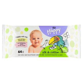 Happy Vlhčené ubrousky Hedvábí & Bavlna á 64 ks