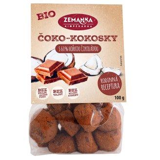 Biopekárna Zemanka Bio čoko-kokosky s fair trade čokoládou 100g