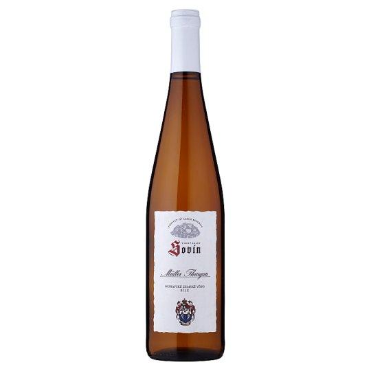 Sovín Müller Thurgau moravské zemské víno bílé polosladké 0,75l