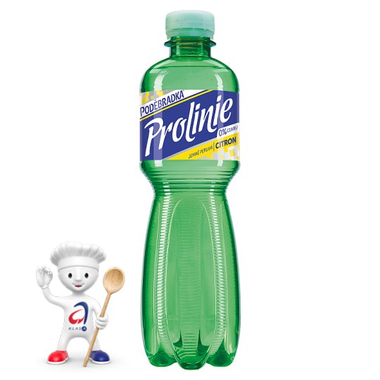 Poděbradka ProLinie Lightly Carbonated Mineral Water with Lemon Flavour 0.5L