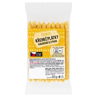 Tesco Křehké plátky kukuřičné se sýrem 65g