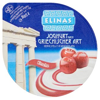 Elinas Yogurt Greek Type of Cherry 150g