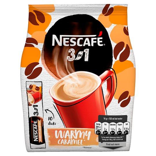 NESCAFÉ 3in1 Warmy Caramel, instantní káva, 10 sáčků x 16g (160g)