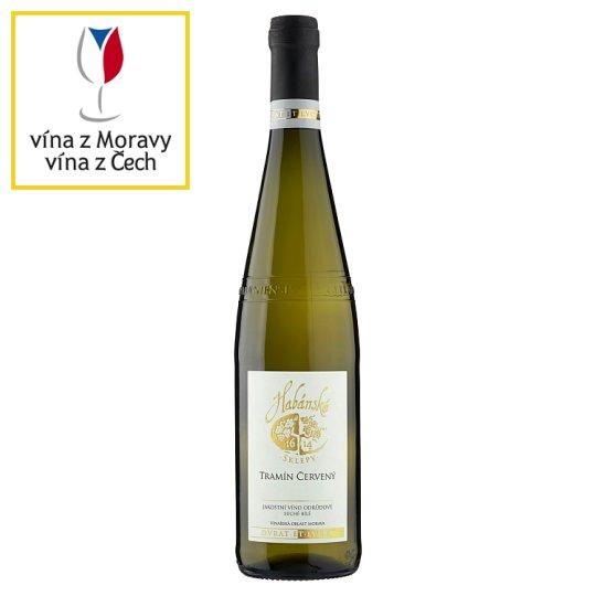 Habánské Sklepy Tramín červený jakostní víno odrůdové suché bílé 0,75l