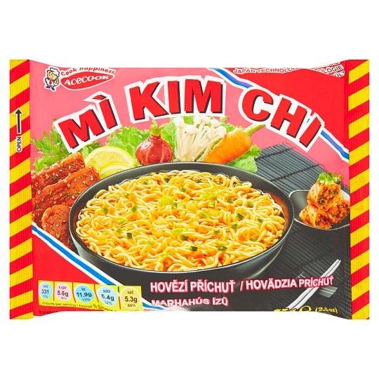 Mi Kim Chi Instant Noodle Soup Mix with Beef Flavour 75g