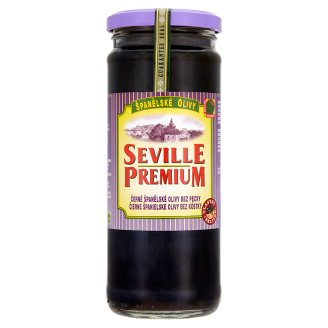 Seville Premium Black Spanish Olives Pitted 450g