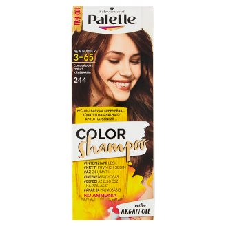 image 1 of Schwarzkopf Palette Color Shampoo Hair Colorant Chocolate Brown 244