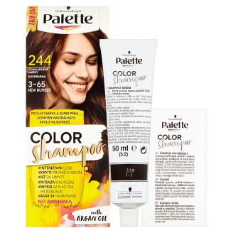 image 2 of Schwarzkopf Palette Color Shampoo Hair Colorant Chocolate Brown 244