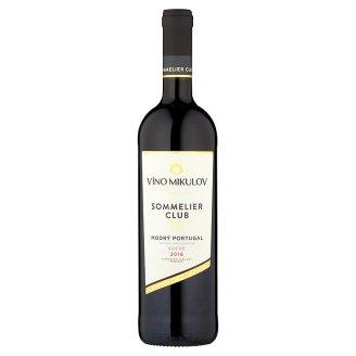 Víno Mikulov Sommelier Club Modrý Portugal jakostní víno odrůdové suché červené 0,75l
