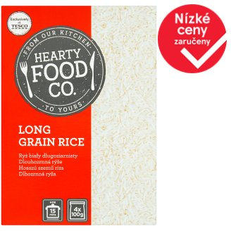 Hearty Food Co. Dlouhozrnná rýže 4 x 100g