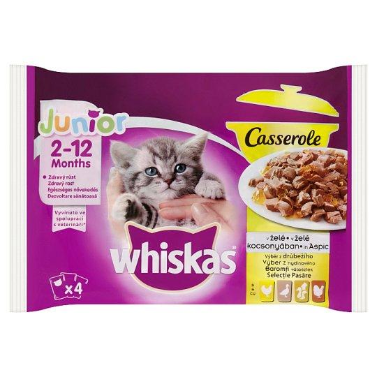 Whiskas Junior Casserole výběr z drůbežího v želé 4 x 85g