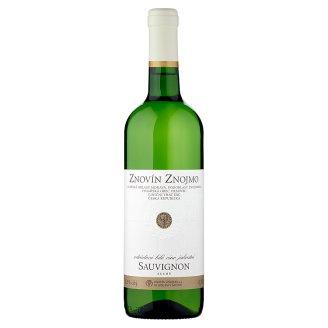 Znovín Znojmo Sauvignon 2014 odrůdové bílé víno jakostní suché 0,75l
