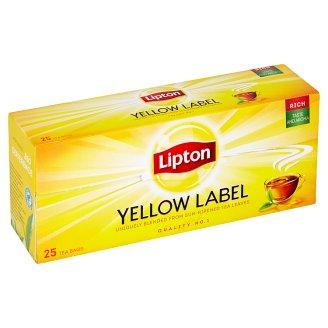 Lipton Černý aromatizovaný čaj Yellow label 25 sáčků
