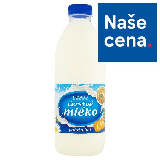 Tesco Čerstvé mléko polotučné 1,5% 1l