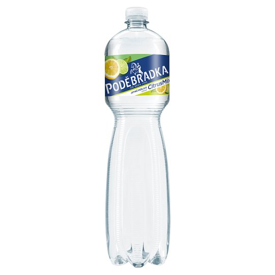 Poděbradka Jemně perlivá s příchutí citrus mix 1,5l