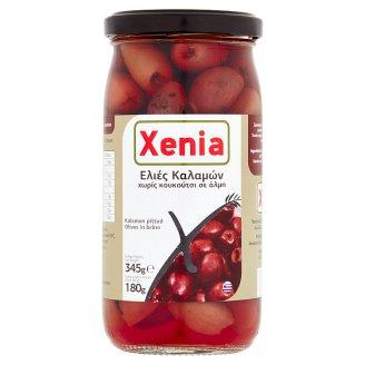 Xenia Kalamata černé olivy bez pecky ve slaném nálevu 345g