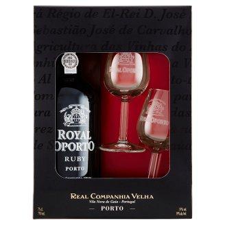 Royal Oporto Ruby Liqueur Wine 75cl + 2 Glasses