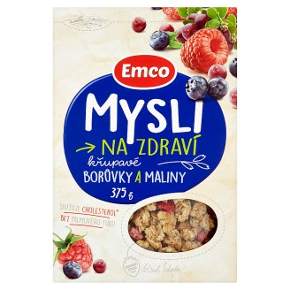 Emco Mysli na Zdraví Crispy Blueberries and Raspberries 375g