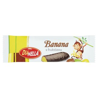 DiaNella Banana Bar Dipped in Dark Chocolate with Fructose 40g