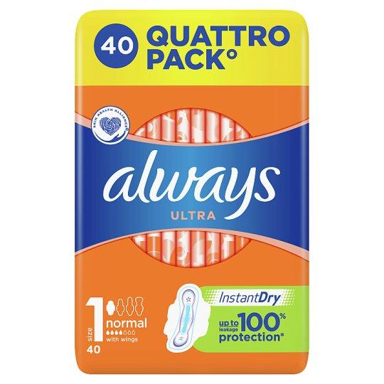 Always Ultra Normal Vel.1 Hygienic. Vložky SKřidélky 40ks
